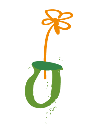 potted pear logo flower only